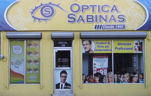 Fachada de Optica Sabinas